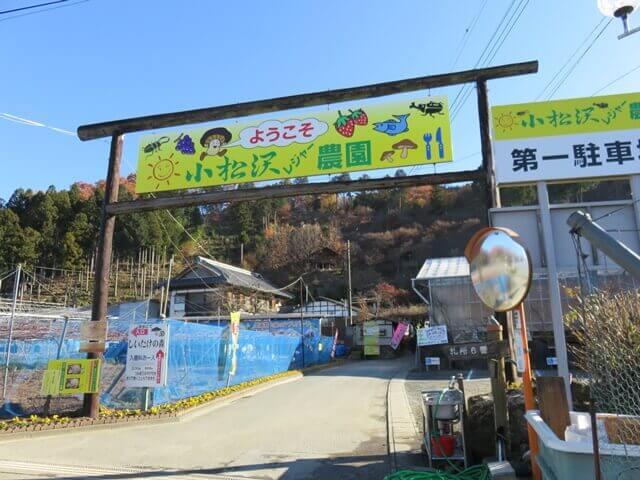 小松沢レジャー農園の入り口