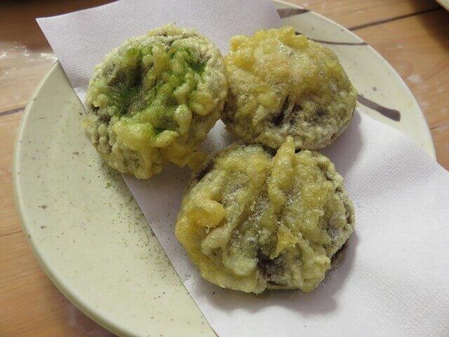 小松沢レジャー農園で売っていたシイタケの天ぷら
