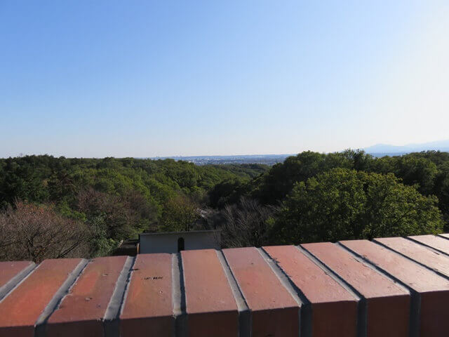 六道山公園の六道展望台から眺めた景色