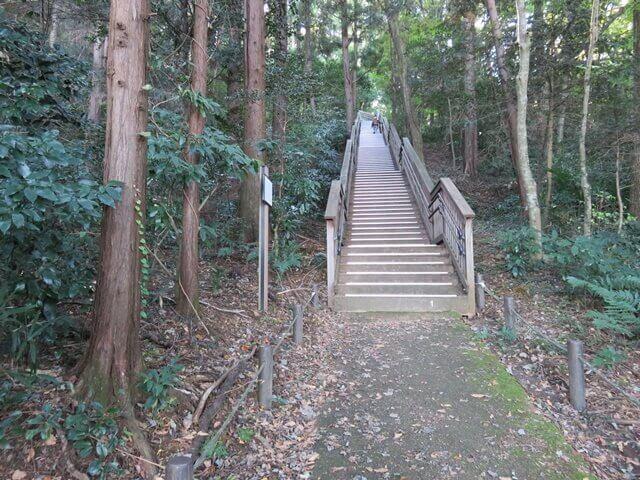 六道山公園の駒形富士山階段