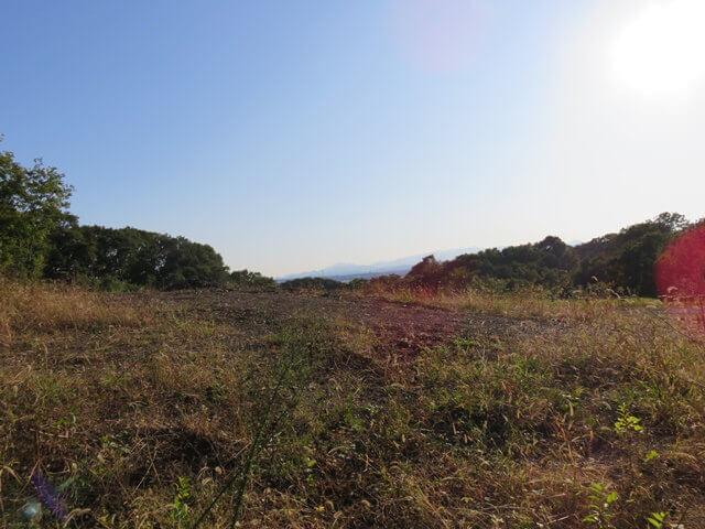 六道山公園の展望台付近からの景色