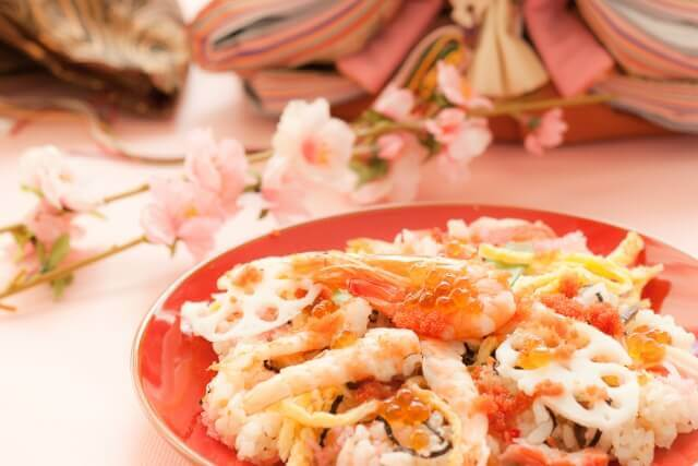 ひな祭りの定番メニューちらし寿司