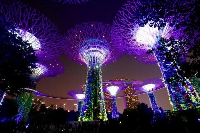 シンガポールのマリーナベイサンズが見える風景