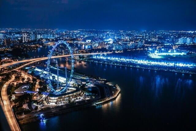 シンガポールフライヤーが見える景色