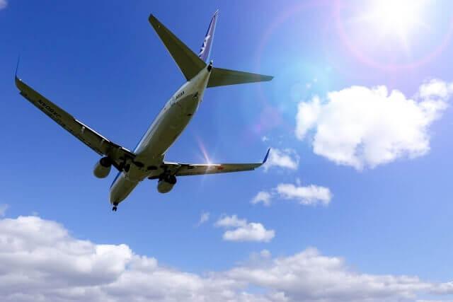 空飛ぶ飛行機のイメージ画像