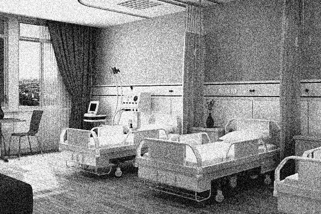 不気味な病院をイメージした画像