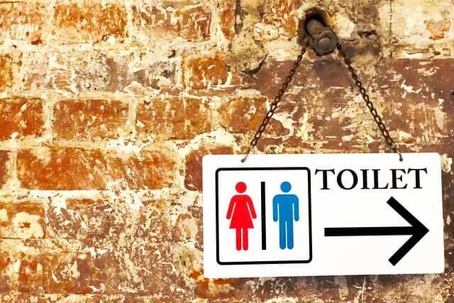 トイレの案内板のイメージ画像