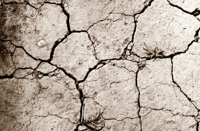 渇いた地面のイメージ画像