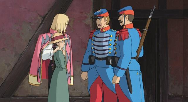 【ハウルの動く城】のシーン・ハウルとソフィーの出会い