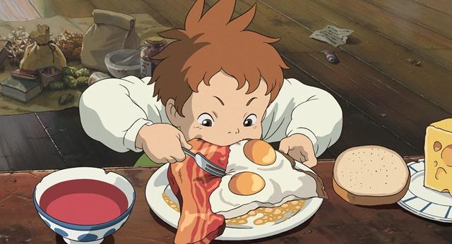 【ハウルの動く城】のシーン・朝食を食べるマルクル