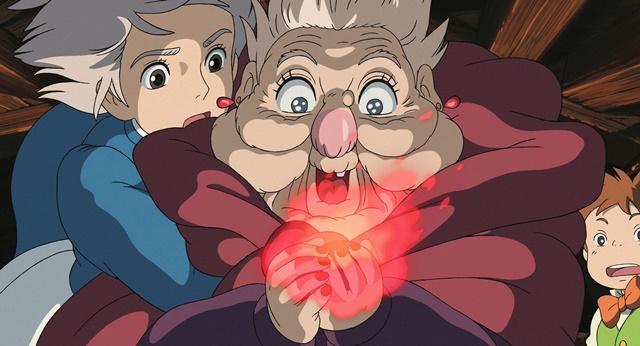 【ハウルの動く城】のシーン・荒れ地の魔女とハウルの心臓