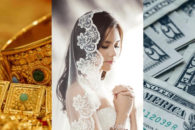 お金と引き換えの結婚のイメージ画像