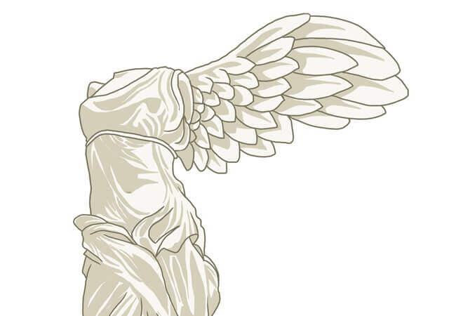 サモトラケのニケのイラスト画像